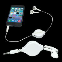Retractable Earbuds - White