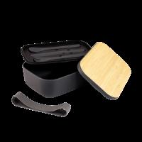 Bamboo Fibre Lunch Box & Cutlery Set