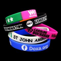 Embossed Ink Filled Silicone Wristbands